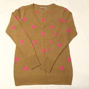 NWOT BOGO Free Gap V-Neck Polka Dot Sweater